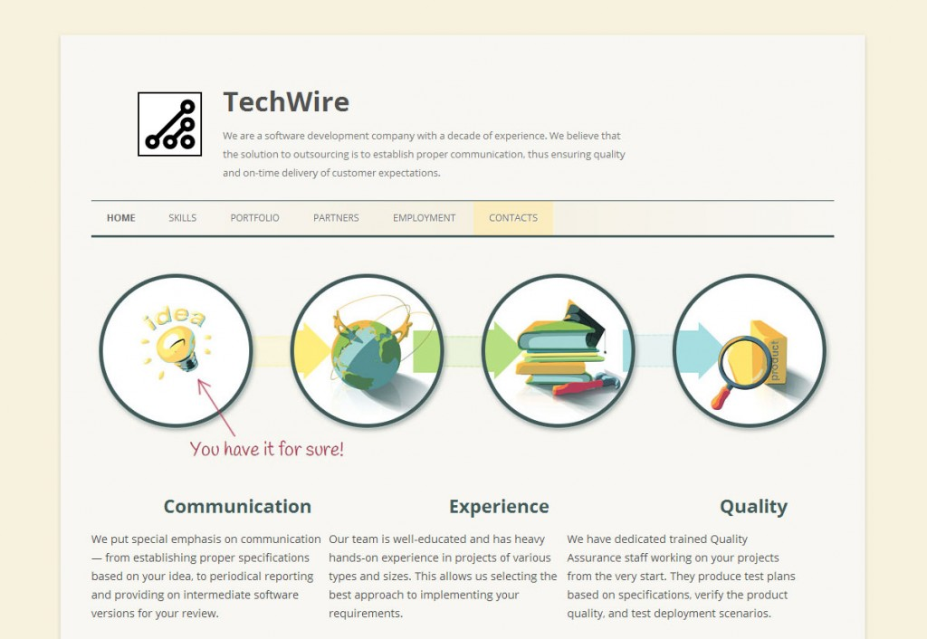 New TechWire site screenshot